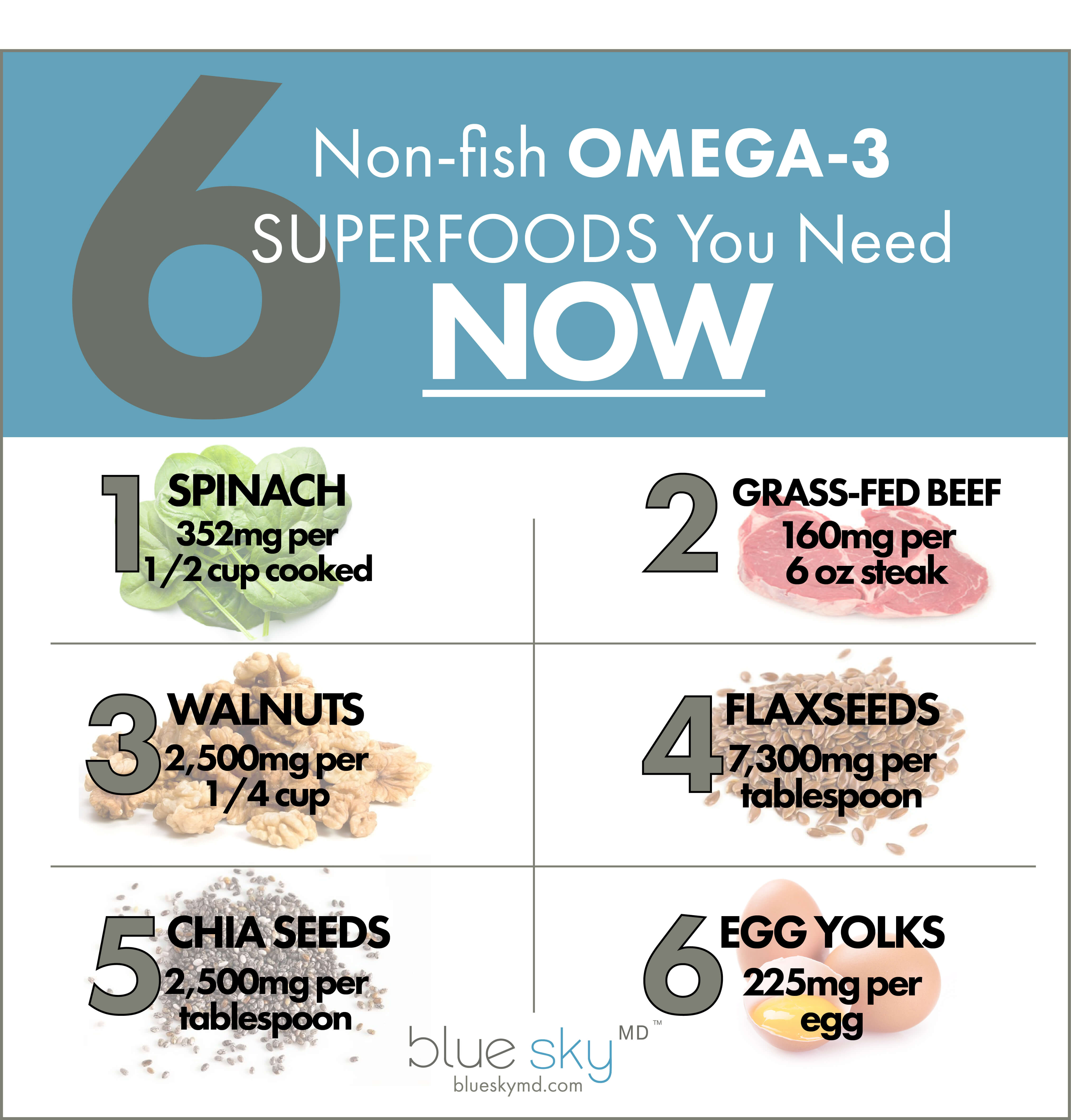 5 Non-fish Omega-3 Superfoods You Need NOW
